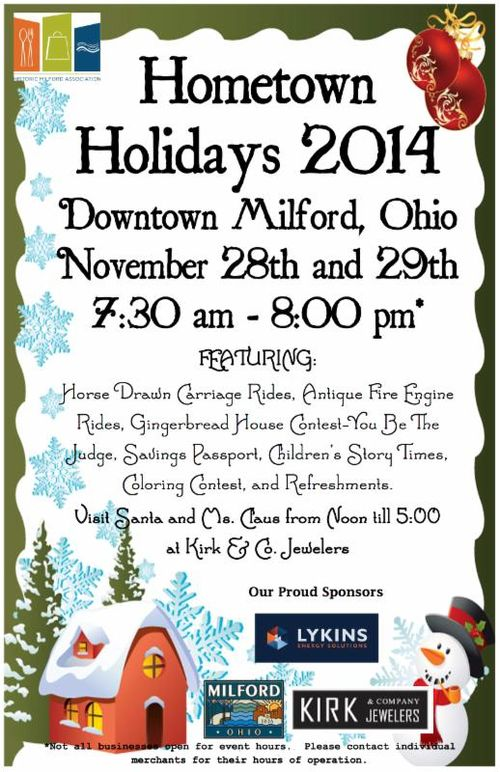 Hometown milford holidays
