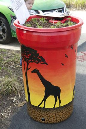 Giraffe-rain-barrel.SWCD