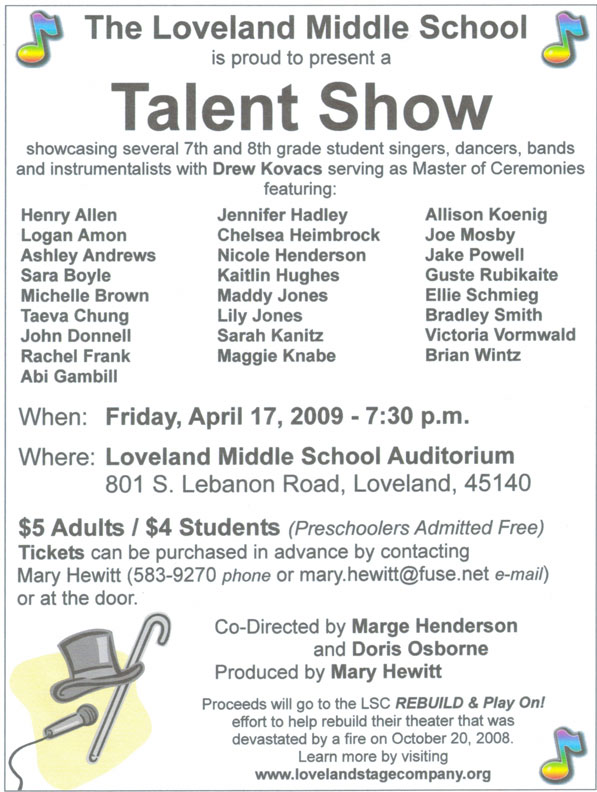 School Talent Show Program Template